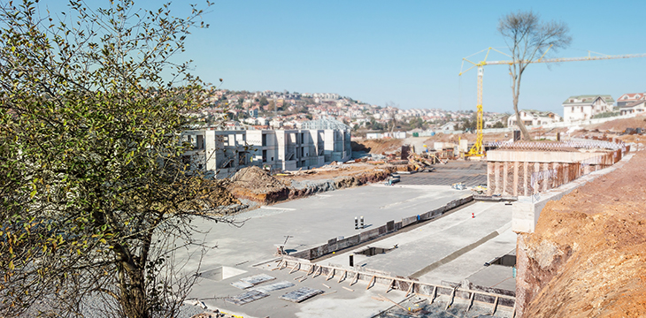 30.000 m3 beton döküldü.